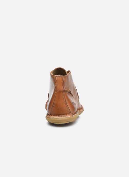 Zapatos con cordones Kickers SWIBO Marrón vista lateral derecha