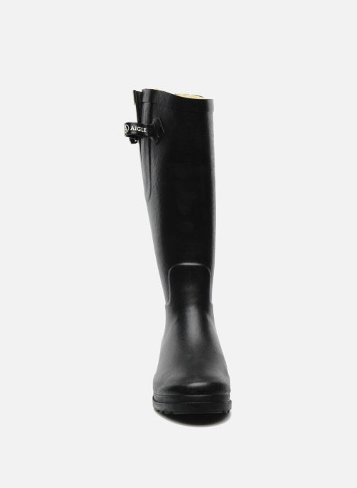 Stiefel Aigle Aiglentine Fur schwarz schuhe getragen