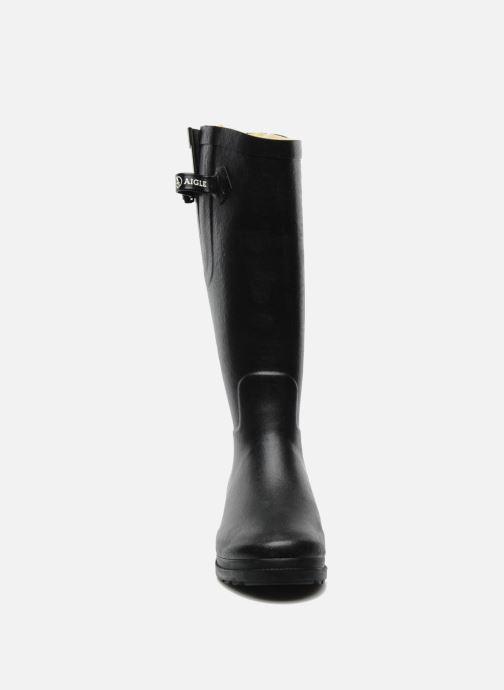 Stivali Aigle Aiglentine Fur Nero modello indossato
