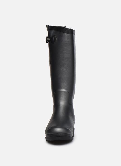 Bottes Aigle Aiglentine Fur Argent vue portées chaussures