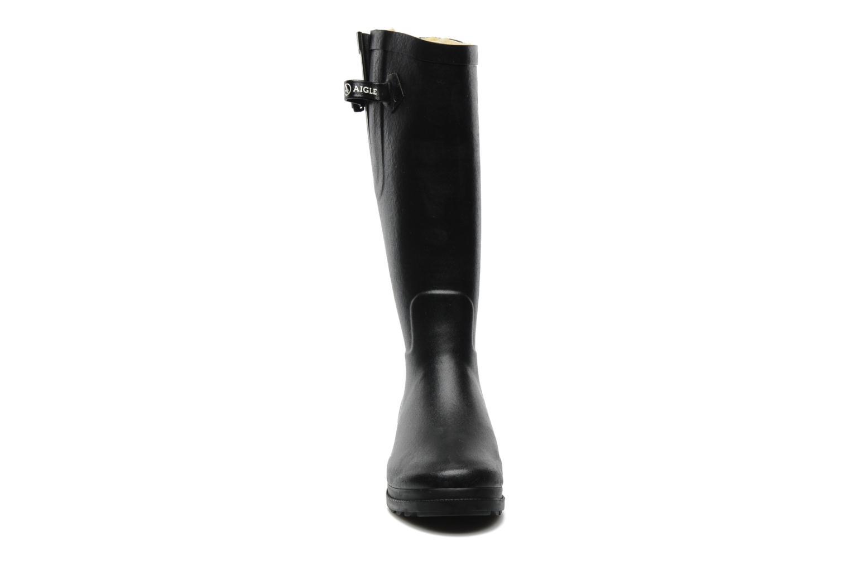 Bottes Aigle Aiglentine Fur Noir vue portées chaussures