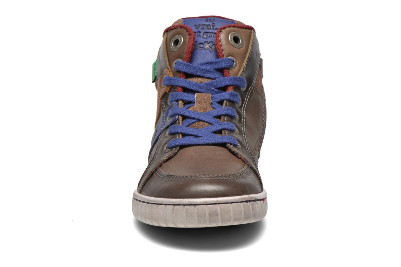 Baskets Kickers Wincut Marron vue portées chaussures