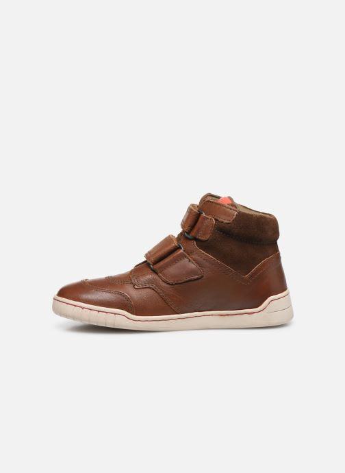 Zapatos con velcro Kickers Winsor Marrón vista de frente