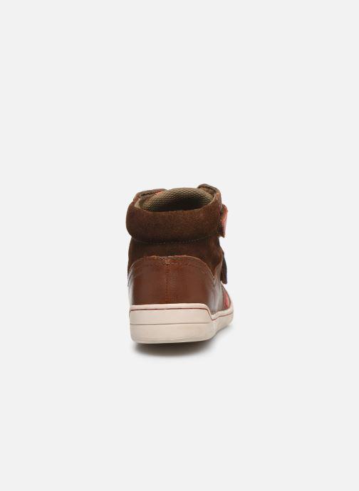 Schoenen met klitteband Kickers Winsor Bruin rechts