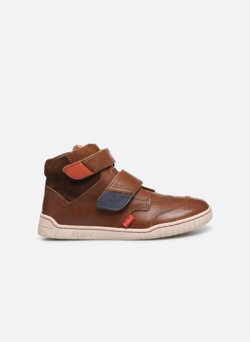 Schoenen met klitteband Kickers Winsor Bruin achterkant