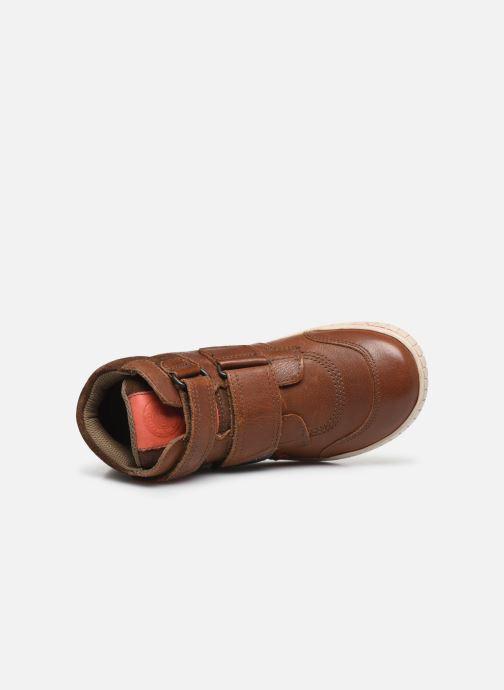 Schoenen met klitteband Kickers Winsor Bruin links