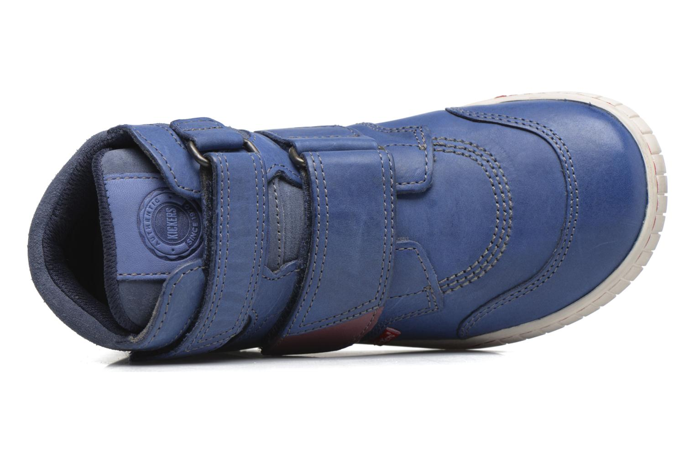 mit Klettverschluss Kickers Winsor blau ansicht von links