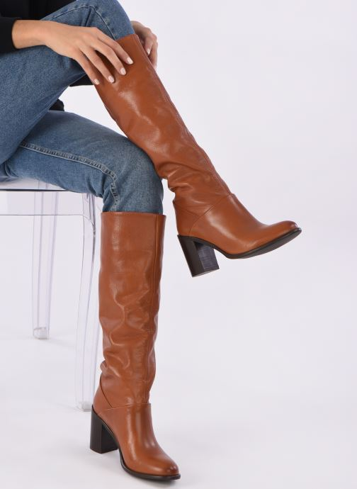 Stiefel Georgia Rose Lamia braun ansicht von unten / tasche getragen