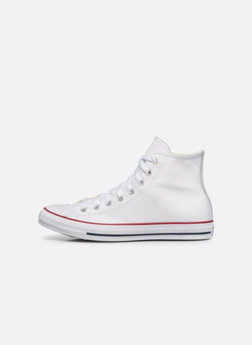 Baskets Converse Chuck Taylor All Star Leather Hi M Blanc vue face