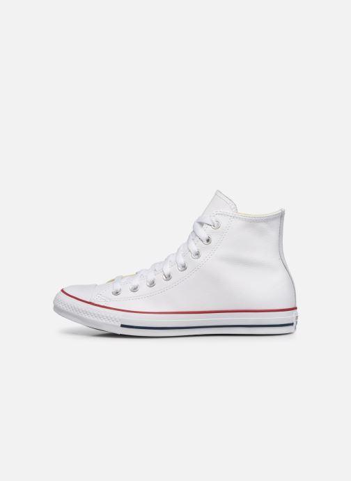 Sneaker Converse Chuck Taylor All Star Leather Hi M weiß ansicht von vorne