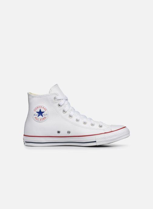 Sneaker Converse Chuck Taylor All Star Leather Hi M weiß ansicht von hinten
