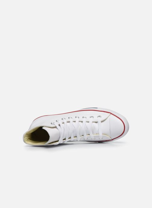 Sneaker Converse Chuck Taylor All Star Leather Hi M weiß ansicht von links