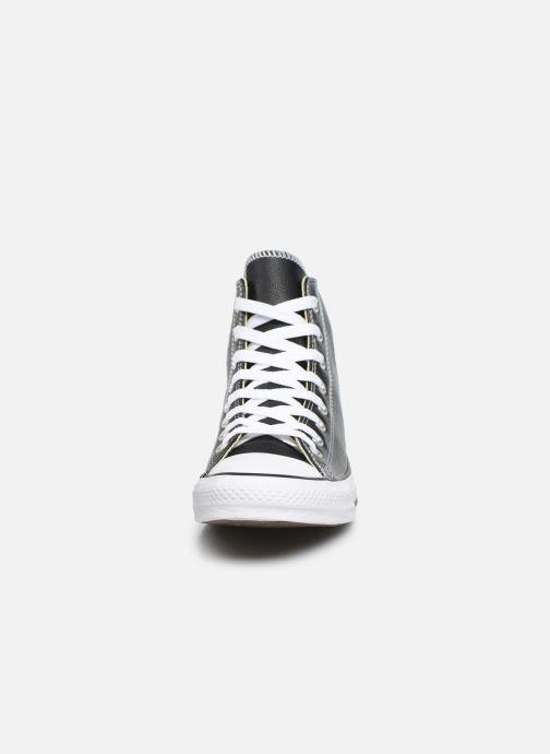 Baskets Converse Chuck Taylor All Star Leather Hi M Noir vue portées chaussures