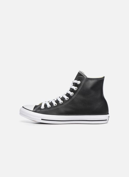 Sneaker Converse Chuck Taylor All Star Leather Hi M schwarz ansicht von vorne