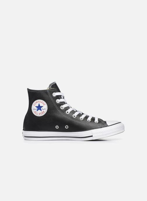 Sneaker Converse Chuck Taylor All Star Leather Hi M schwarz ansicht von hinten