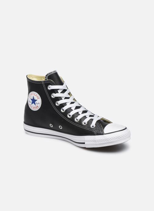 buy popular 22324 46f34 Baskets Converse Chuck Taylor All Star Leather Hi M Noir vue détail paire