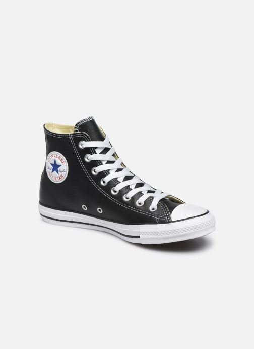 99af6bed8b415 Sneaker Converse Chuck Taylor All Star Leather Hi M schwarz detaillierte  ansicht modell