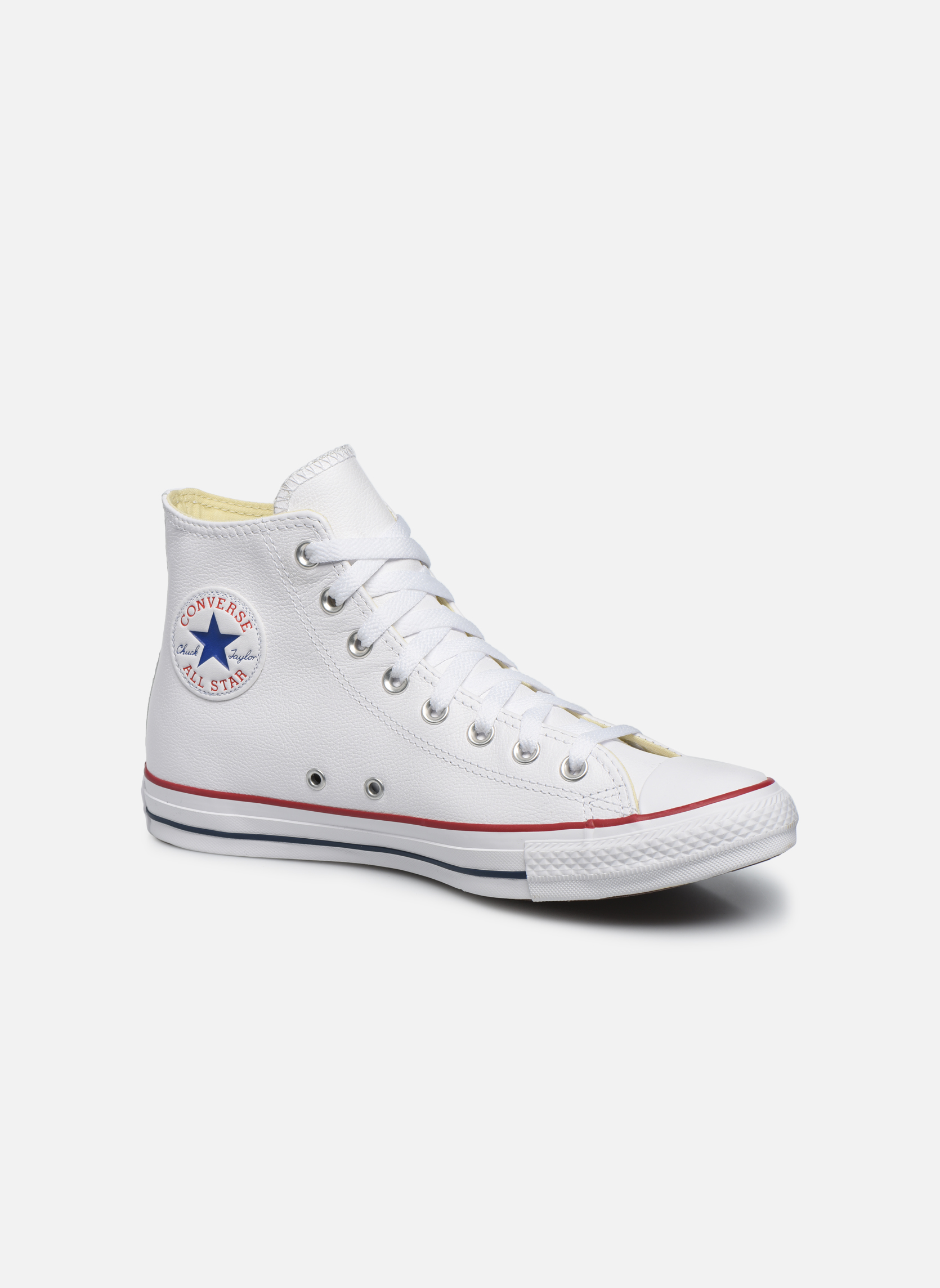 Deportivas Converse Chuck Taylor All Star Leather Hi M Blanco vista de detalle / par