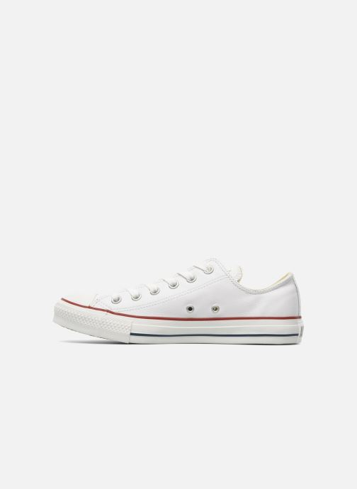 Sneakers Converse Chuck Taylor All Star Leather Ox M Hvid se forfra