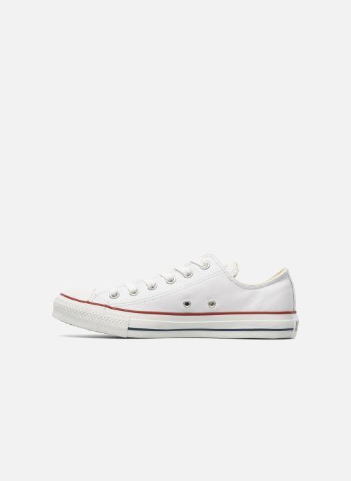 Sneaker Converse Chuck Taylor All Star Leather Ox M weiß ansicht von vorne
