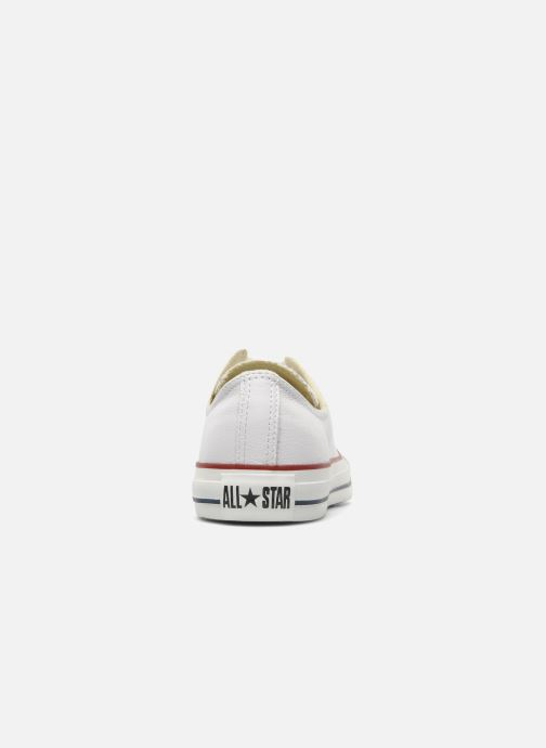 Baskets Converse Chuck Taylor All Star Leather Ox M Blanc vue droite