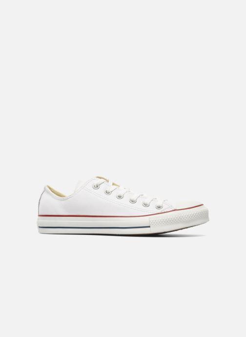 Sneaker Converse Chuck Taylor All Star Leather Ox M weiß ansicht von hinten