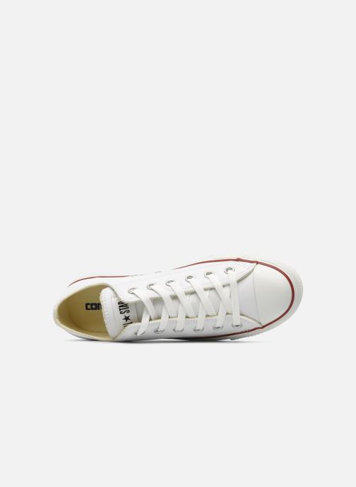 Sneaker Converse Chuck Taylor All Star Leather Ox M weiß ansicht von links