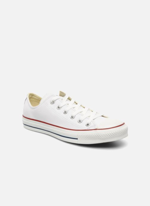 Baskets Converse Chuck Taylor All Star Leather Ox M Blanc vue détail/paire