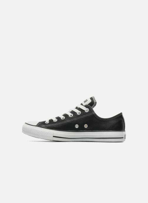 Sneaker Converse Chuck Taylor All Star Leather Ox M schwarz ansicht von vorne