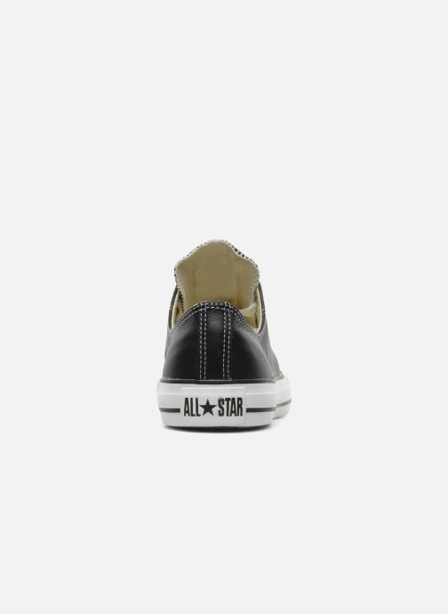 Trainers Converse Chuck Taylor All Star Leather Ox M Black view from the right