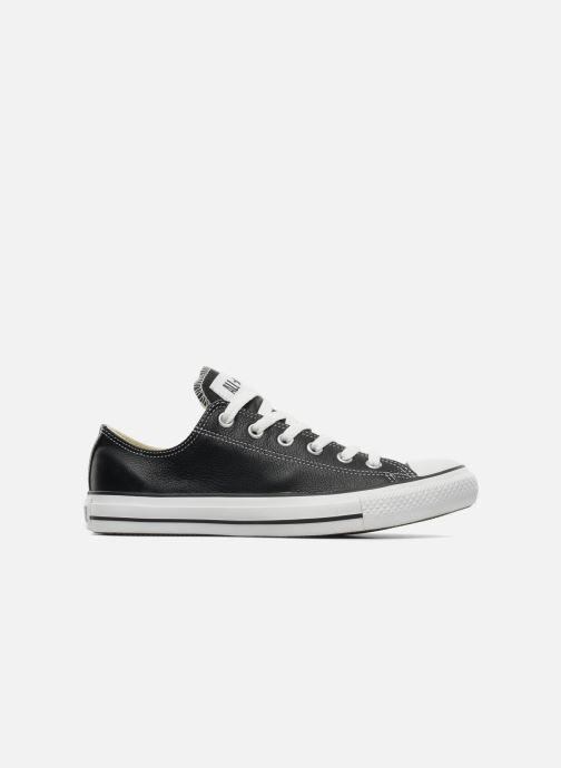 Sneaker Converse Chuck Taylor All Star Leather Ox M schwarz ansicht von hinten