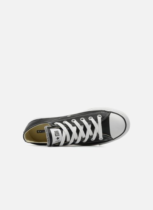 Sneaker Converse Chuck Taylor All Star Leather Ox M schwarz ansicht von links