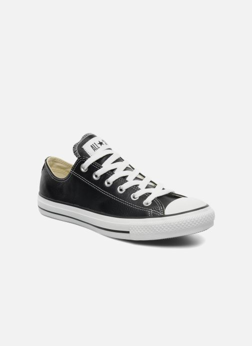 Sneakers Converse Chuck Taylor All Star Leather Ox M Sort detaljeret billede af skoene