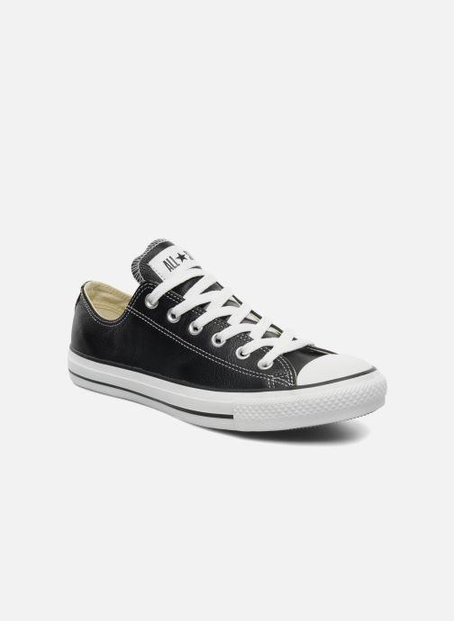 Sneakers Converse Chuck Taylor All Star Leather Ox M Sort detaljeret billede af skoene