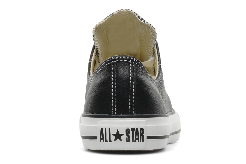 Baskets Converse Chuck Taylor All Star Leather Ox M Noir vue droite