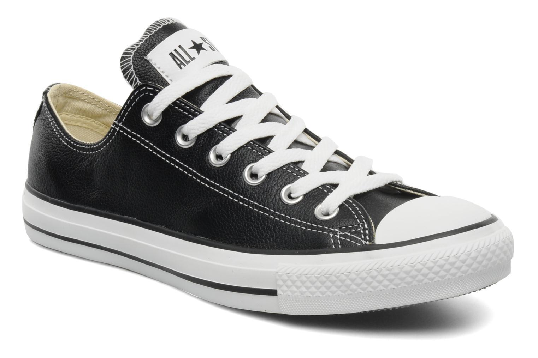 Baskets Converse Chuck Taylor All Star Leather Ox M Noir vue détail/paire