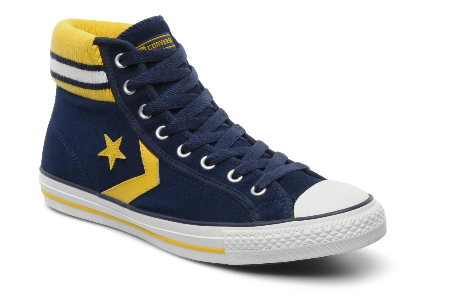813aa3a729c0 ... where to buy trainers converse star player cuff rib suede mid m blue  detailed view pair ...