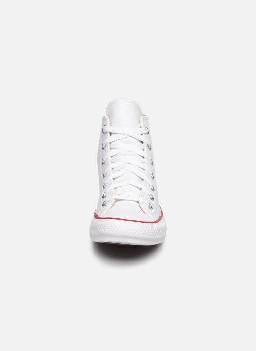 Sneaker Converse Chuck Taylor All Star Leather Hi W weiß schuhe getragen