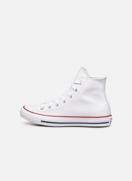 Sneaker Converse Chuck Taylor All Star Leather Hi W weiß ansicht von vorne
