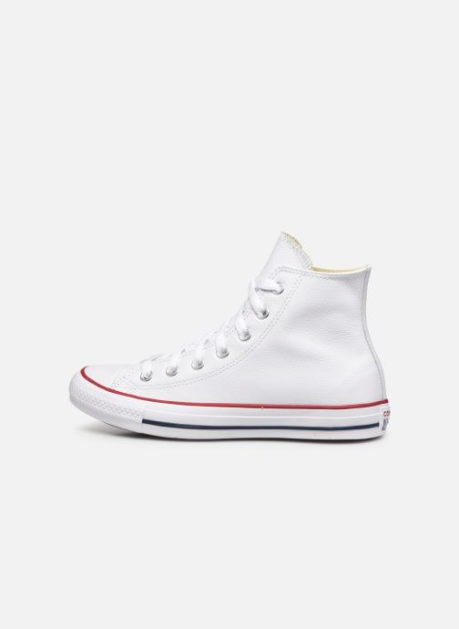 Deportivas Converse Chuck Taylor All Star Leather Hi W Blanco vista de frente