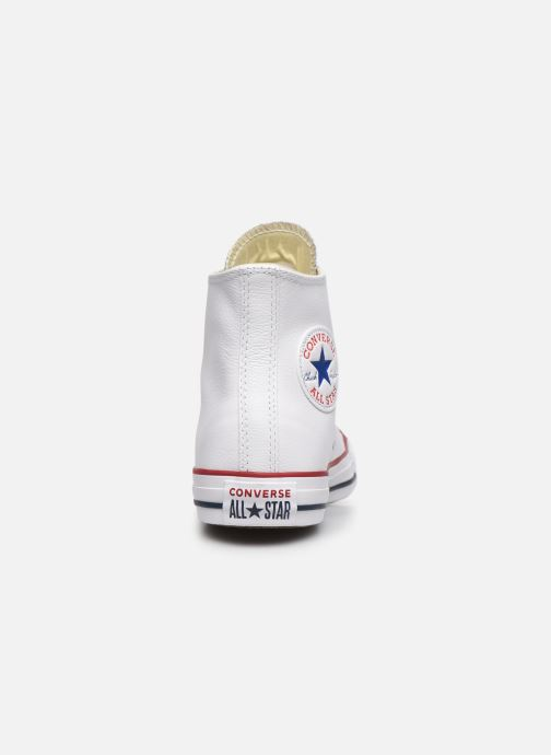 Deportivas Converse Chuck Taylor All Star Leather Hi W Blanco vista lateral derecha