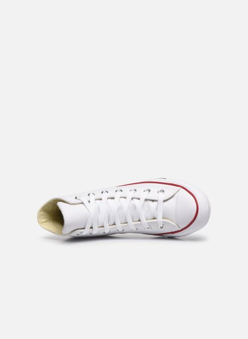 Sneaker Converse Chuck Taylor All Star Leather Hi W weiß ansicht von links