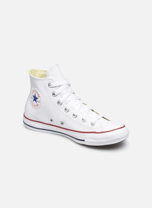 Deportivas Converse Chuck Taylor All Star Leather Hi W Blanco vista de detalle / par