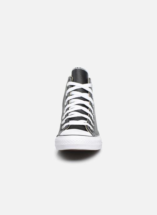 Sneaker Converse Chuck Taylor All Star Leather Hi W schwarz schuhe getragen