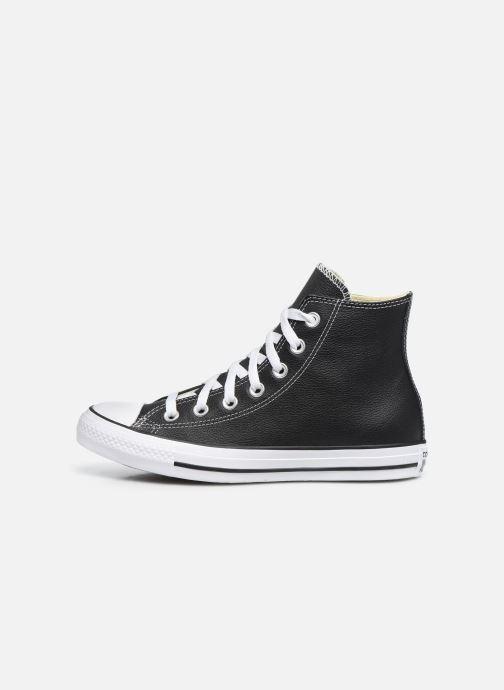 Sneaker Converse Chuck Taylor All Star Leather Hi W schwarz ansicht von vorne