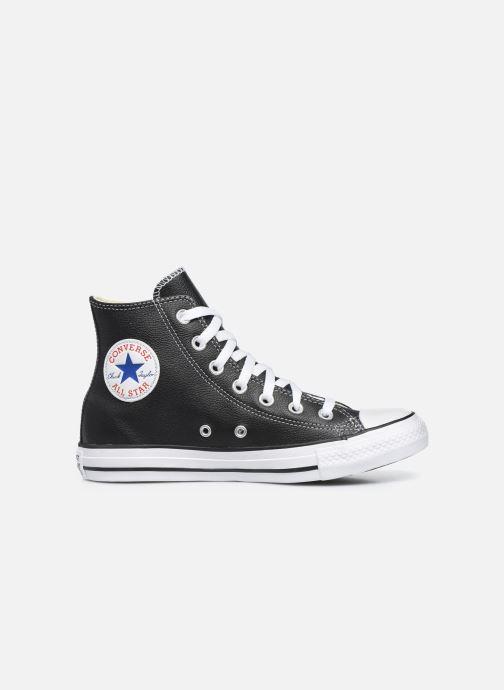 Sneaker Converse Chuck Taylor All Star Leather Hi W schwarz ansicht von hinten