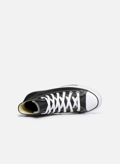 Sneaker Converse Chuck Taylor All Star Leather Hi W schwarz ansicht von links