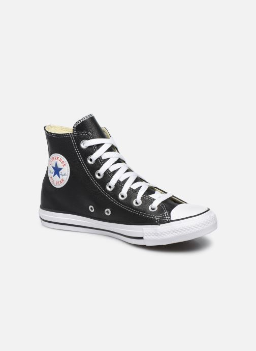 Converse Chuck Taylor All Star Leather Hi W (Noir) - Baskets ...