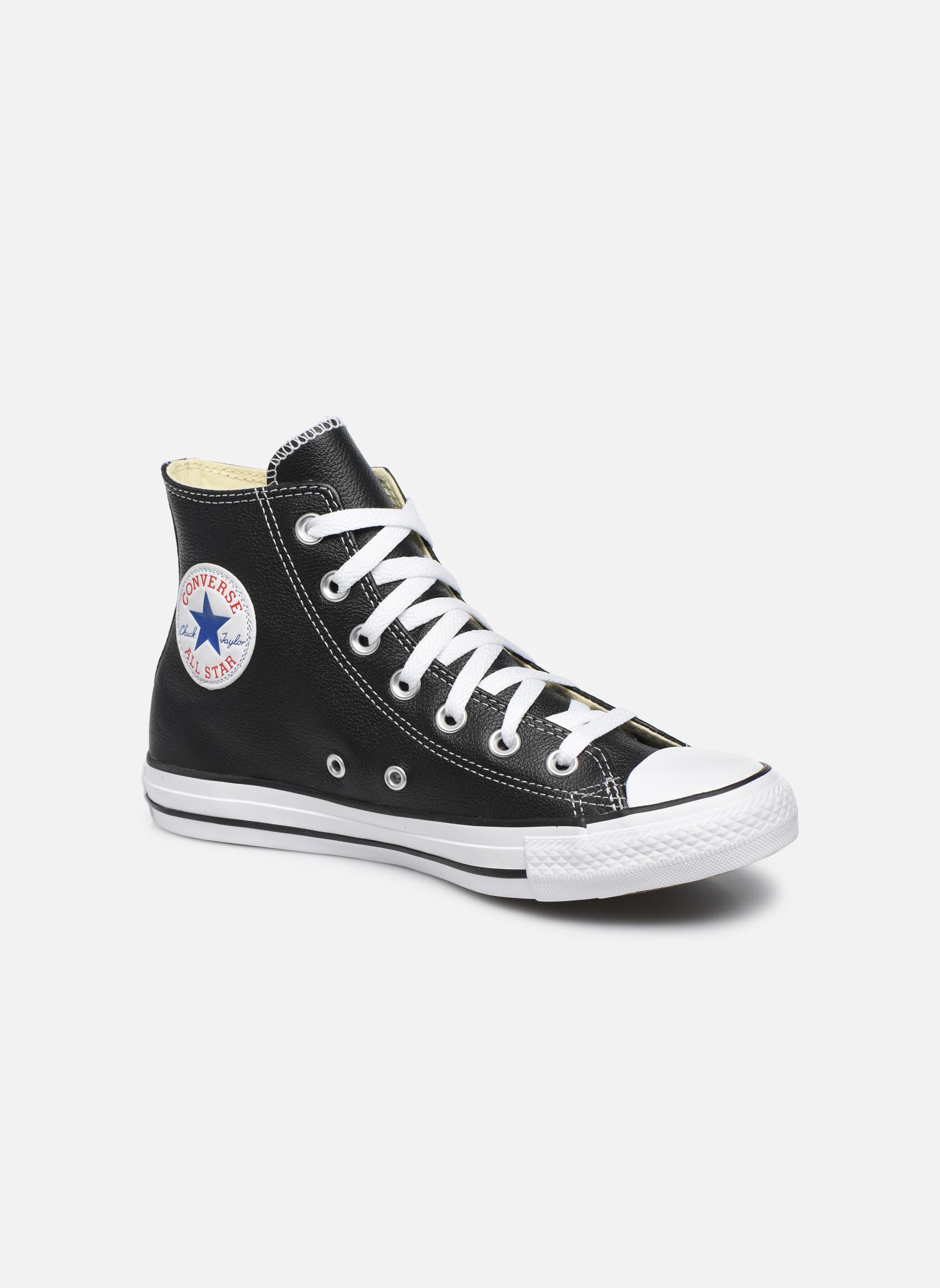 Venta de Converse liquidación de temporada  Converse de Chuck Taylor All Star Leather Hi W (Negro) - Deportivas en Más cómodo 4f3dd3