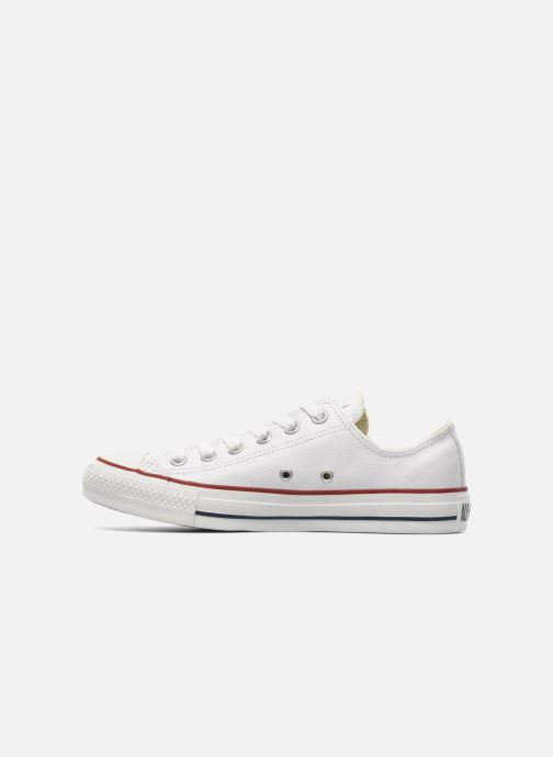Sneakers Converse Chuck Taylor All Star Leather Ox W Hvid se forfra